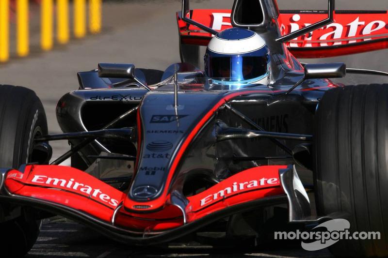 Mika Hakkinen, piloto probador para McLaren Mercedes