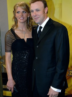 Matt and Katie Kenseth pose for a few snaps before the banquet