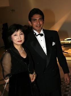 Aguri Suzuki, Team Principle of Super Aguri F1 Team and wife
