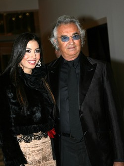 Flavio Briatore, Team Principal Renault F1 and girlfriend Elonore Gregoracci