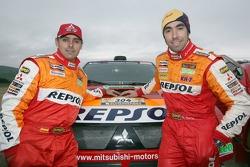 Team Repsol Mitsubishi Ralliart shakedown presentation: Lucas Cruz Senra and Nani Roma
