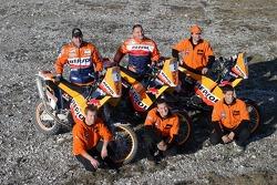 Team Rally Repsol KTM: Jordi Viladoms, Marc Coma and Giovanni Sala