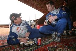 Mark Miller and Dirk von Zitzewitz at the bivouac