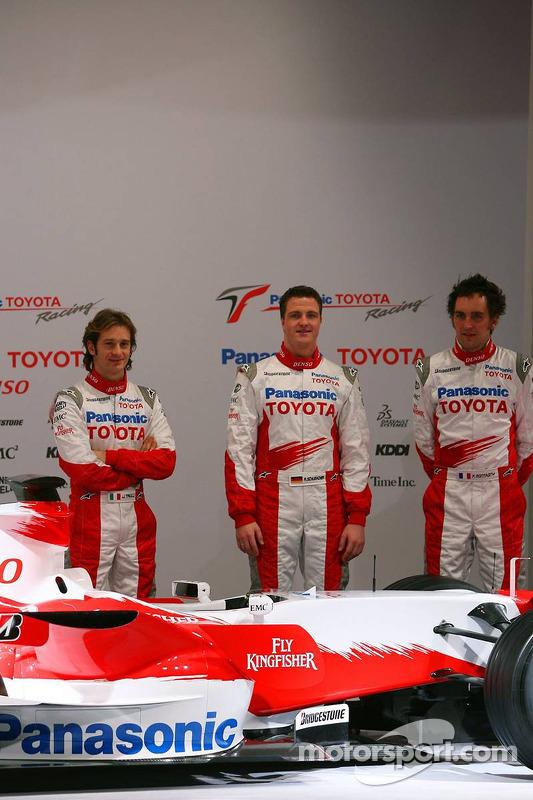 Jarno Trulli; Ralf Schumacher; und Franck Montagny, Toyota