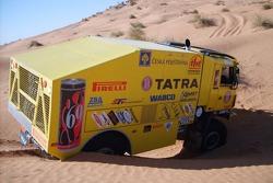Loprais Tatra Team: Ales Loprais and Petr Gilar test the Tatra