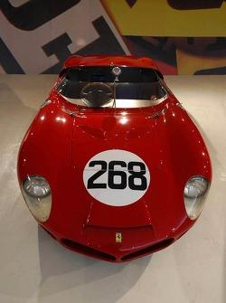 A historic Ferrari race car