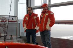 Luca Badoer and Kimi Raikkonen