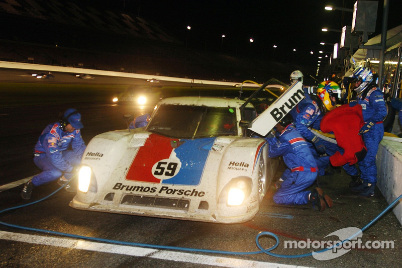 #59 Brumos Porsche/ Kendall Porsche Riley: Hurley Haywood, JC France, Joao Barbosa, Roberto Moreno and #08 Goldin Brothers Racing Mazda RX-8: Steve Goldin, Keith Goldin, John Finger, Ron Zitza