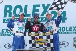 DP Podium: Winners Scott Pruett, Juan Pablo Montoya, Salvador Duran