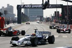 Timo Glock, Ralf Schumacher and Fernando Alonso