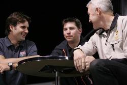 Jeff Gordon, Denny Hamlin and Dale Jarrett