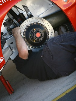 Work being done on the Dick Johnson Racing car