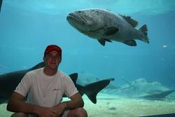 Jonathan Summerton at the Ushaka Marine World Shark tank