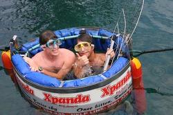 Luiz Razia and Bruno Junqueira at the Ushaka Marine World