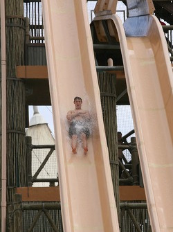 Oliver Jarvis at the Ushaka water park
