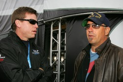 Hall of Fame Quarterback Troy Aikman and Kevin Costner