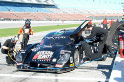 Tony Stewart and Andy Wallace practice driver changes