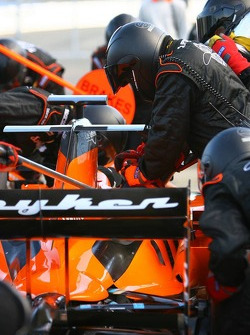 Pitstop practice for Spyker F1 Team