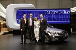 Dr. Klaus Maier, Head of Sales and Marketing Mercedes Car Group , Dr. Dieter Zetsche, CEO of the DaimlerChrysler AG, Mercedes-Benz DTM driver Susie Stoddart