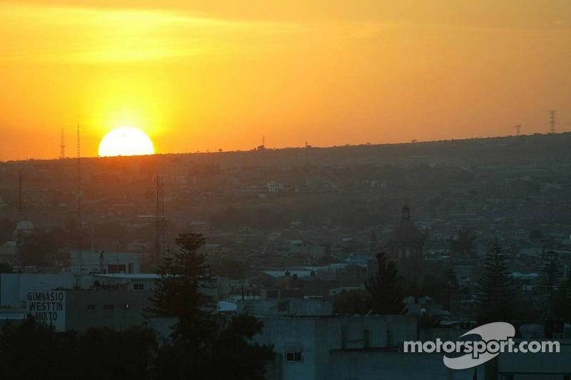 Coucher de soleil à Mexico