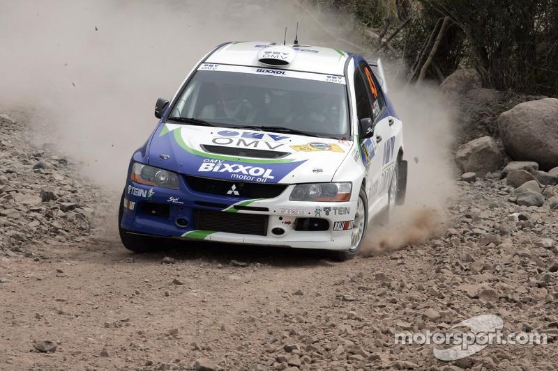 Balazs Benik et Laszlo Bunkoczi, OMV Bixxol Rally Team Mitsubishi Lancer Evo IX