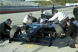 Graham Rahal practice pit stop