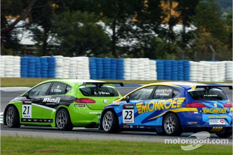 Emmet O'Brien, GR Asia, SEAT Leon et Pierre-Yves Corthals, SEAT Belgique and Monroe, SEAT Leon