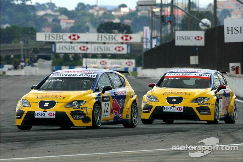 Yvan Muller, SEAT Sport, Seat Leon et Jordi Gene, SEAT Sport, SEAT Leon