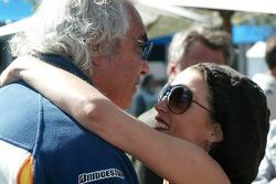 Flavio Briatore, Renault F1 Team, Team Chief, Managing Director and Dannii Minogue, Australian pop-singer