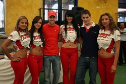 James Hinchcliffe, Driver of A1Team Canada and Oliver Jarvis, Driver of A1Team Great Britain