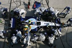 Alexander Wurz, Williams F1 Team, FW29 pitstop