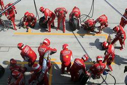 Scuderia Ferrari ready for a pitstop