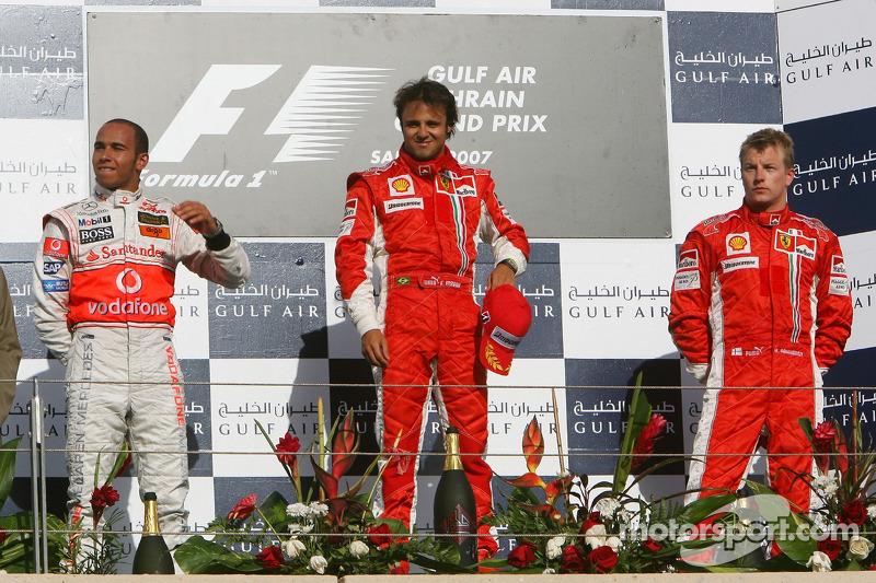 2007 - 1. Felipe Massa 2. Lewis Hamilton 3. Kimi Räikkönen