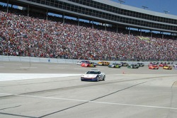 The pace car pulls off for the green flag
