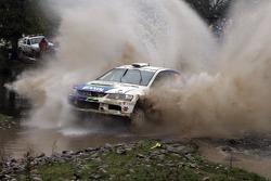 Claudiu David and Mihaela Beldie, OMV BIXXOL Rally Team Mitsubishi Lancer
