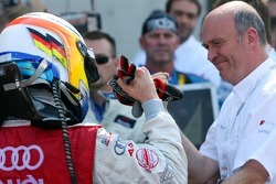 Mike Rockenfeller, Audi Sport Team Rosberg and Dr. Wolfgang Ullrich, Audi's Head of Sport