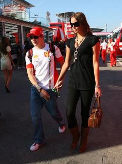 Kimi Raikkonen, Scuderia Ferrari and Jennie Raikkonen, Wife of Kimi Raikkonen,  Formula 1 World Championship, Rd 4, Spanish Grand Prix, Saturday