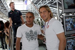 Michel Salgado, Real Madrid, Football Player, and Roberto Carlos, Real Madrid, Football Player