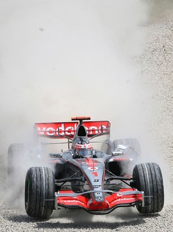 Fernando Alonso, McLaren Mercedes, MP4-22, in the gravel