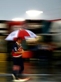 Rain falls on Darlington