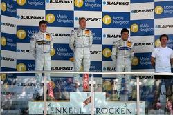Podium: Mika Hakkinen, Team HWA AMG Mercedes, Paul di Resta, Persson Motorsport AMG Mercedes, Bruno Spengler, Team HWA AMG Mercedes