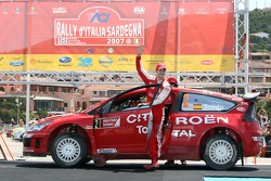 Podium: third place Daniel Sordo and Marc Marti, Citroen Total WRT, Citroen C4 WRC