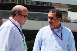David Webb, Just Marketing International, President with Sheikh Mohammed bin Essa Al Khalifa, CEO of the Bahrain Economic Development Board and McLaren Shareholder