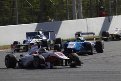 Marvin Kirchhofer, ART Grand Prix leads Pal Varhaug, Jenzer Motorsport & Jimmy Eriksson, Koiranen GP