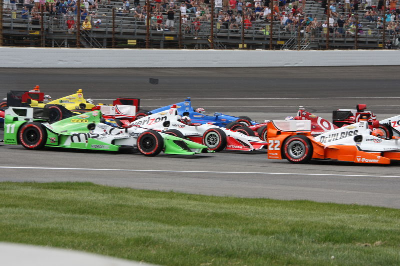 Start: Scott Dixon, Chip Ganassi Racing, Chevrolet, mit Dreher