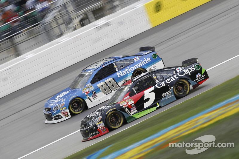 Dale Earnhardt Jr., Hendrick Motorsports Chevrolet e Kasey Kahne, Hendrick Motorsports Chevrolet