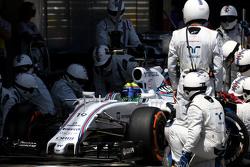Felipe Massa, Williams F1 Team, beim Boxenstopp