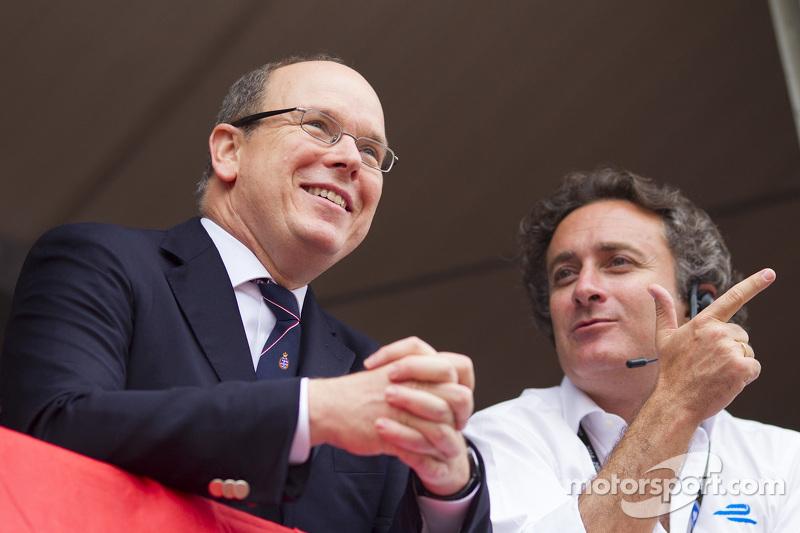 Principe Alberto II y Alejandro Agag, CEO de la Fórmula E