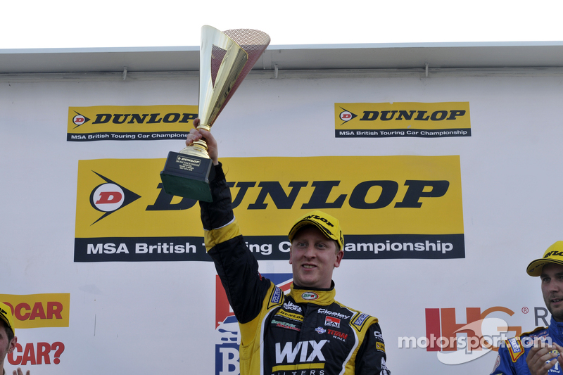 Race winner Adam Morgan