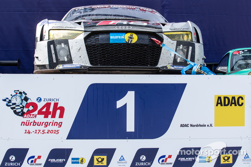 Podium cars: race winner #28 Audi Sport Team WRT Audi R8 LMS